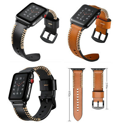 Genuine Leather Bracelet Strap Band For Apple Watch iWatch Series 3 2 1 38/42mm