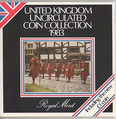 1983 United Kingdom Royal Mint Brilliant Uncirculated 8 Coin Collection - Sealed