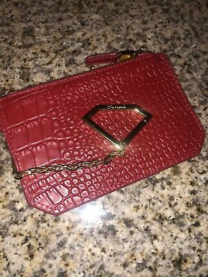 Diamond Supply Co Zipper Pouch Alligator Red Free Shipping