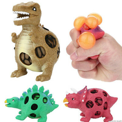 Anti-Stress Dinosaurier Grape Ball Reliever Squeeze Relief Kinder Spielzeug