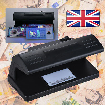 UV Money Checker Counterfeit Forged Polymer & Paper Bank Note Detector Scanner