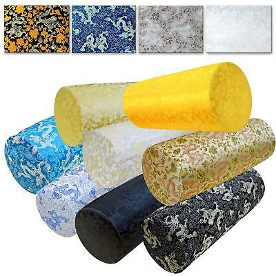 Bolster Cover*Chinese Rayon Brocade Neck Roll Long Tube Yoga Pillow Case*BL5