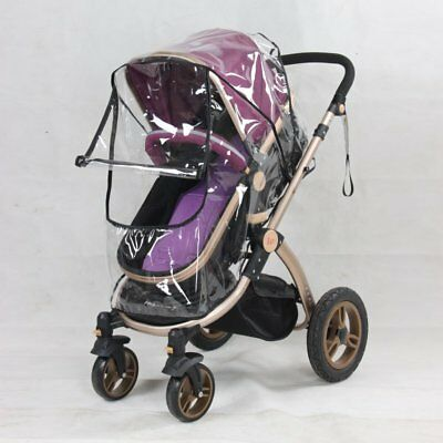 US Baby Kids Rain Cover Wind Shield Buggy Pram Clear Cover Pushchair Protector