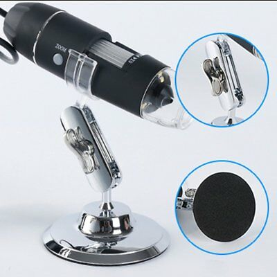 1600X HD Digital Microscope Magnifier Handheld USB Microscope & Metal Stand RQ