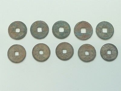 10 Ancient Chinese Coins Shipwreck Hoard - Set 6