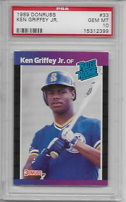Ken Griffey Jr Mariners 1989 Donruss #33 Rated Rookie Card RC PSA 10 Gem Mint