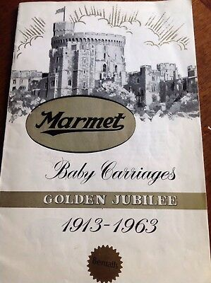 Marmet Coach built pram Catalogue 1963 ; copy from archive Original