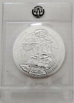 2018 Rwanda-Ruanda NAUTICAL Series, HMS Endeavour, 1 oz BU-ST Silber mit Folie