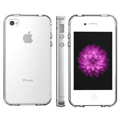 For Apple iPhone 4/4S TPU Ultra Thin Transparent Back Slim Clear Soft Case Cover