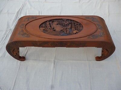 Oriental Antique Chinese Camphor wood Carved Coffee Table
