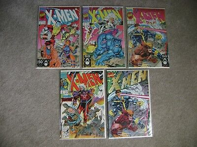 X-Men Lot Of 5 Marvel Comics 1991 Series Various Covers Copper Age Nm To Vf/nm