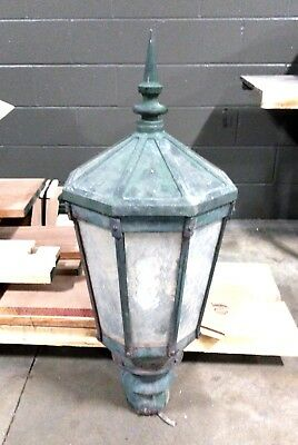 "Vintage cast iron Street Lamp over 100 years old.  Converted from Gas. 156"" tall"