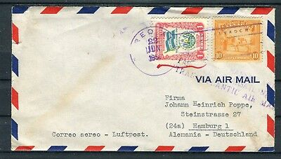 Luftpost-Brief El Salvador 1 Colon+10 Centavos MiF nach Hamburg - b4545