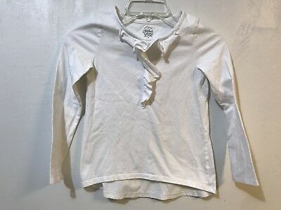 Faded Glory Girls 8 White Long Sleeve Top *Flaws*