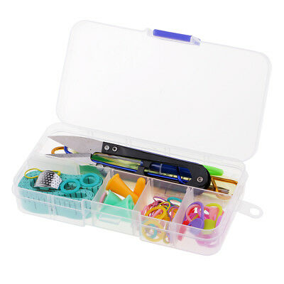 57pcs Knitting Tools Basic Sewing Knitting Crochet Kit with Compartment Box