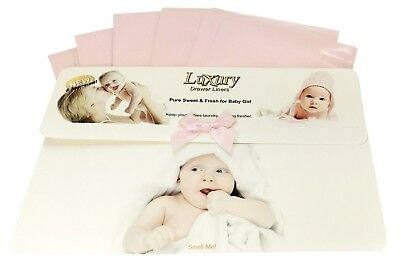 Baby Girl Luxury Scented Drawer Liners Ideal babies Shower Gift,    120gsm