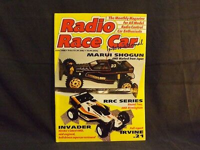 Radio Race Car International Magazine June 1988. Marui Shogun. Hirobo Invader.