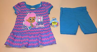 Bubble Guppies Toddler Girl Shirt & Shorts Outfit Set New 24 Months Molly