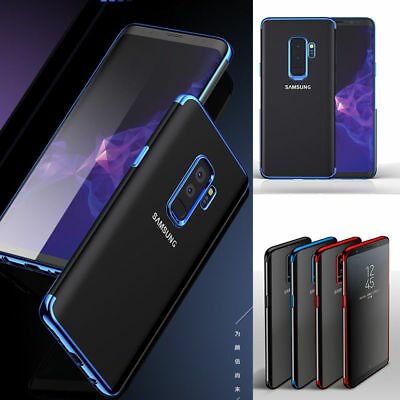 Samsung Galaxy J6 J4 A6 A8 S8 S9 Luxury Slim Plating Phone Case Cover+TEMPERED