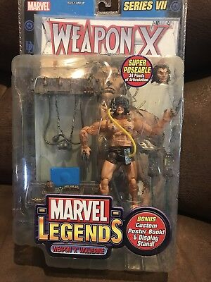 Marvel Legends Weapon X Wolverine Action Figure Series VII 7 X Poster Book 2004