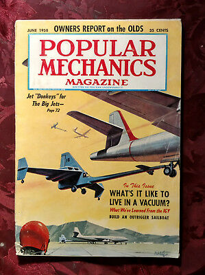 Popular Mechanics June 1958 Jet Donkeys for Big Jets IGY '58 Oldsmobile report