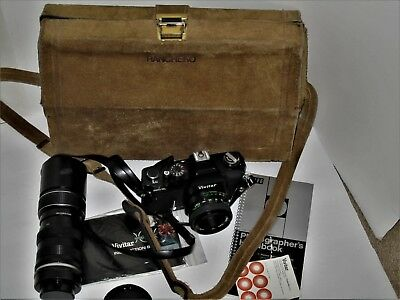 Vivitar 220/SL 35mm Film Camera Kit with 2 Lenses & more, see details