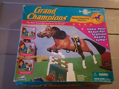 Grand Champions Show Jumping Stallion in Box
