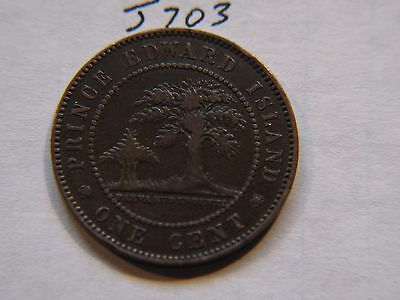 Prince Edward Island 1871, Canadian Large Cent Coin , Queen Victoria