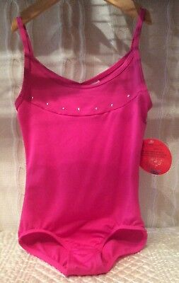 e058d950f73e DANSKIN FREESTYLE GIRLS Pink Long Sleeve Velour Leotard Size Medium ...