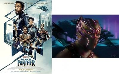 BLACK PANTHER Original DS 27x40 Movie Poster FINAL INTL + FANDANGO EXCLUSIVE