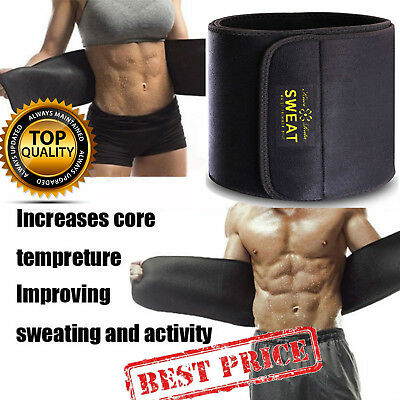 Men Waist Trimmer Belts Sweat Wrap Tummy Stomach Weight Loss Fat Burner Slimming