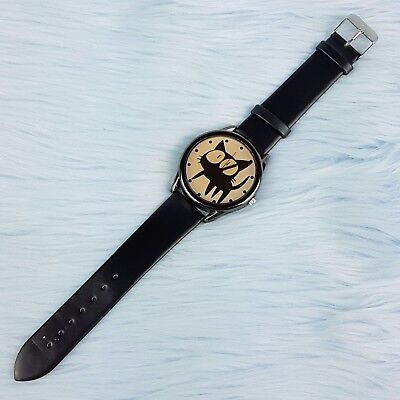 TRIGUN Kuroneko Sama Black Cat Wrist Watch Stainless Steel Back Water Resistant
