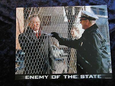 ENEMY OF THE STATE lobby card # 10 -  GENE HACKMAN, JON VOIGHT