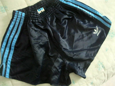Adidas Vintage nylon Football Shorts retro 80s football shiny running M
