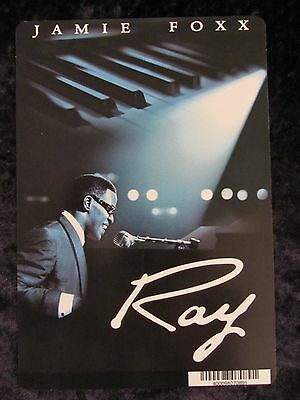 RAY movie backer card JAMIE FOXX (this is not a dvd)