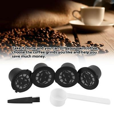 4PCS Reusable Coffee Capsules Refillable Capsule Filter for Nespresso Coffee Set