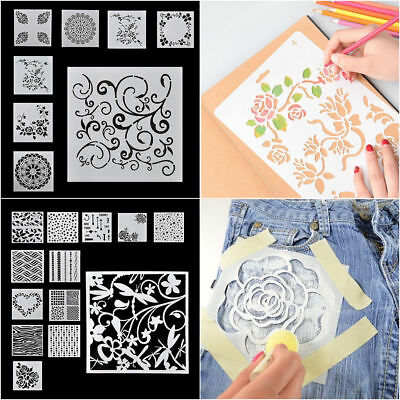 7/13pcs/Sets Embossing Template Scrapbooking Walls Painting Layering Stencils