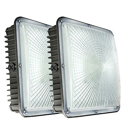 LED Canopy Light Ceiling Fixtures, 45/70/120/150W IP65 Gas station Garage Lights