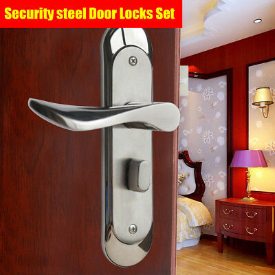 Full Set Stainless Steel Privacy Door Security Entry Lever Mortise Handle Locks