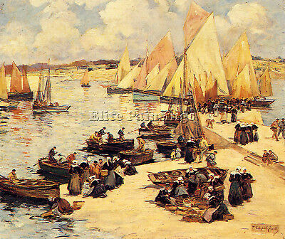 Legout Gerard Fernand A French Harbor Artist Painting Reproduction Handmade Oil