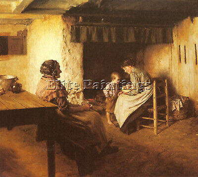 Langley Walter The New Arrival Artist Painting Reproduction Handmade Oil Canvas