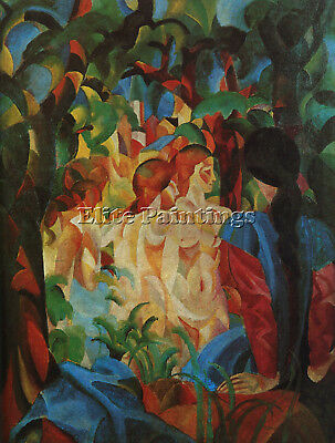 August Macke 8 Artist Painting Reproduction Handmade Oil Canvas Repro Art Deco