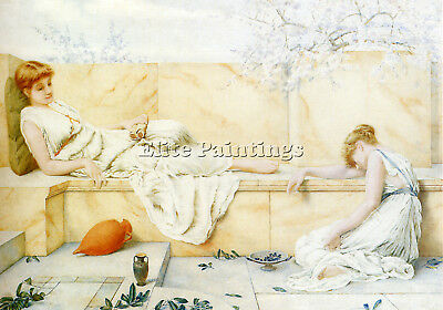 Ryland Henry Two Classical Figures Reclining Artist Painting Oil Canvas Repro