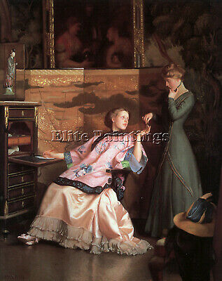 Williampaxton Thenewnecklace 1910 Artist Painting Oil Canvas Repro Wall Art Deco