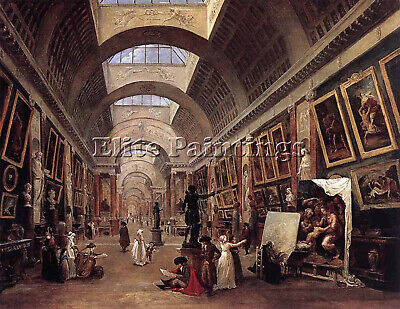 Robert Hubert Design For Grande Galerie Louvre Artist Painting Oil Canvas Repro