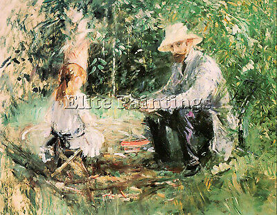 Morisot27 Artist Painting Reproduction Handmade Oil Canvas Repro Wall Art Deco