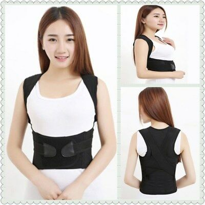 Men / Women Adjustable Posture Corrector Back Support Shoulder Back Brace Belt