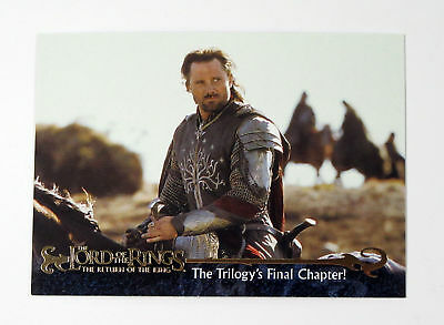 """2003 LORD of the RINGS """"TRILOGY"""" TOPPS PROMO TRADING CARD [P1] - V/GOOD COND"""