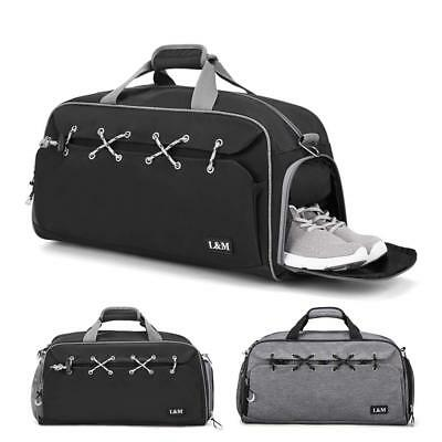 Men S Sports Gym Bag With Wet Pocket Shoes Compartment Travel Duffel