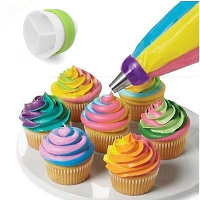NEW TULIP Flower Stainless Steel Icing Piping Nozzles Cake- Cup Cake Baking Tool